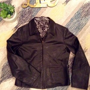Vintage Black Leather Jacket from Ann Taylor